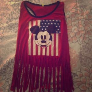 Tops - Mikey Mouse Crop Top with Strings